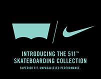 Nike x Levi's Skateboarding Collection Microsite