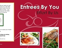 Entrees By You 2-fold marketing piece