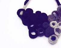 industrial mutations- felted wool jewelry