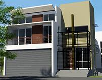 Proposed House in Kalubovila, Sri Lanka  -  3D views