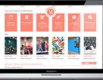Diseño web tienda online papel pintado