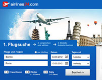 Interface design: airlines24.com
