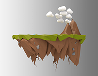 First Low Poly Floating Island