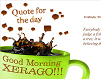 Quote of the day mailer banner...