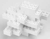 Lego Cloud Sculptures