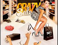 Crazy Sale Flyer Template