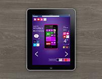 Digital design for website, phone and tablet app.
