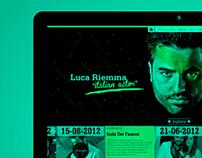 Luca Riemma's web site concept