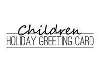 Children holiday greeting card