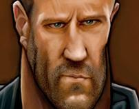 Jason Statham Caricature