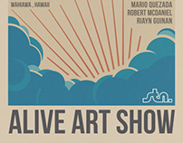Surfers Coffee Bar // Alive Art Show Event Poster