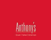 Anthony's Restaurant Menu