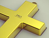 God Faith Money (cross pendant)