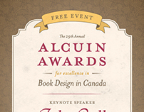 29th Annual Alcuin Awards Poster