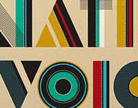 NATIVE VOICES - lettering, exhibit design