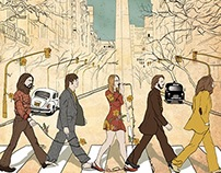 Illustration, music poster | Jazzy Beatle Band
