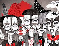 Halloween Illustration for Scene Birmingham Magazine