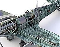 Technical Illustration (cutaways)