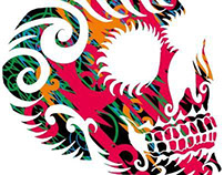 over 200 tribal tattoo skull vector art