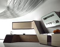 Fresh 2, bedroom, office & kitchen CGI