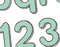New Arrival. Font for Boots 'baby & mum'