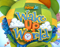 Wake up World Logo on Nick Jr