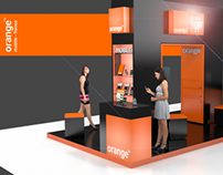 Arc de Triomphe inspired stand for Orange France