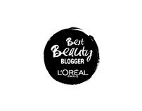 """L'oréal """"Best Beauty BLOGGER"""" logo"""