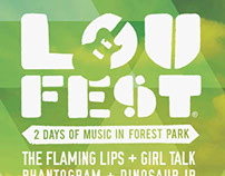 Collateral work for Loufest Music Festival 2012