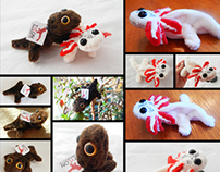 Tylonproducts- Salamander Magnet Plush Animals