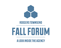 Rodgers Townsend Fall Forum logo and materials