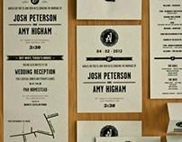 Josh & Amy — Wedding Stationery
