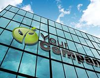 Realistic Building Logo Sign Mock-Up 2