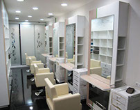 Endorphine beauty salon design and visualization