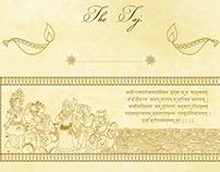 Patachitra Painting inspired Diwali Invite.