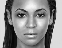 iPad Finger Painting Beyonce