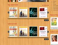 Website design for an online library management system.