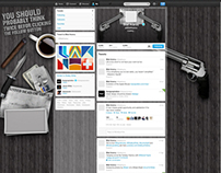 Gangster Style Facebook Cover & Twitter Background