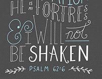 Psalm 62:6 Handlettering