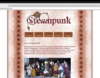 Steampunk Research Website Design | Spring 2010