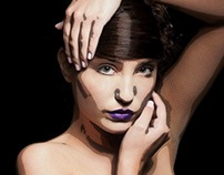 Beauty photoshoot comic style