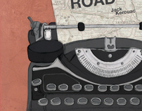 """On the Road"" Book Cover"