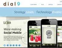 Responsive Design- dial9.ca Agency website