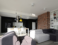 Industrial apartment in Warsaw