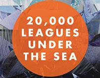"Print Design   ""20,000 Leagues"" Book Jacket."