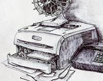 ballpoint pen drawing III