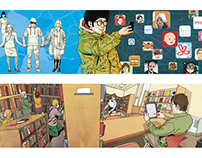 Humanities column illustration