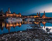 Before the night– Dresden Skyline