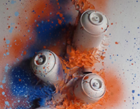 cans on canvas