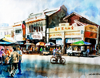My watercolour painting-landscape drawing 1